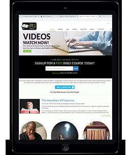 Shrewsbury Christadelphians iPad showing video